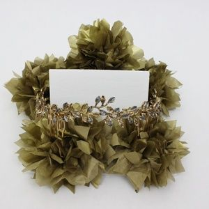 Zara - Gold and Silver leaf hair crown